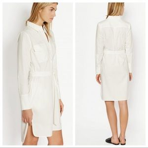 Equipment white Delaney shirt dress